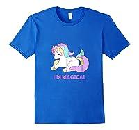 I'm Magical Rainbow Unicorn Shirts Royal Blue