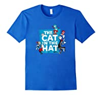 Dr Seuss The Cat In The Hat Characters Shirts Royal Blue