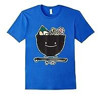 Ra Bowl Noodles Chopsticks Seaweed Soup Char Siu Pork T-shirt Royal Blue