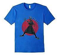 Samurai Jack Traditional Armor Shirts Royal Blue