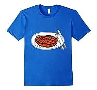 Steak Graphic For A Bbq Steak Lover T-shirt Royal Blue