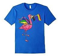 Flamingo Lgbt Pride Month T-shirt Royal Blue