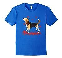 I Love My Beagle T Shirt Valentine Gift For Beagle Royal Blue