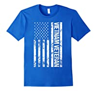 American Flag Vietnam Veteran T-shirt Royal Blue