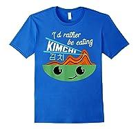 Kimchi Cute Korean Ferted Food Shirts Royal Blue