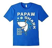 Papaw Shark Halloween Christmas Gift Shirts Royal Blue
