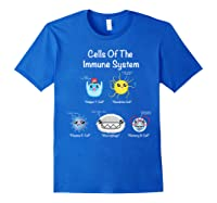 Immune System Cells Biology Cell Science Humor Immunologist Shirts Royal Blue