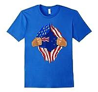 New Zealand Blood Inside Me T-shirt   New Zealand Flag Gift Royal Blue
