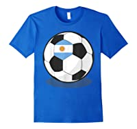Argentinian Flag On Soccer Ball   Argentina Football Shirts Royal Blue