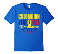 Storecastle Colombian Roots Colombia Flag Pride Shirts Royal Blue