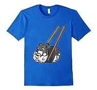 Schnauzer Sushi Funny Dog Gif Shirts Royal Blue