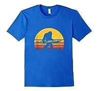 Retro Kayak Vintage Sasquatch Kayaking Tank Top Shirts Royal Blue