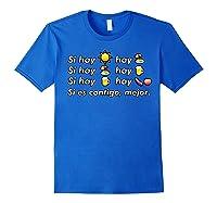 Si Hay Playa Hay Alcohol - Callaita Trap Bunny Emoji T-shirt T-shirt Royal Blue