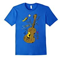 The Sound Of Guitar Tree Nature Shirts Royal Blue