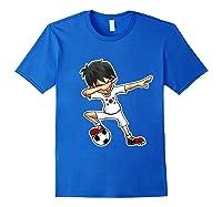 Dabbing Soccer Boy South Korea, Korean Flag Shirts Royal Blue