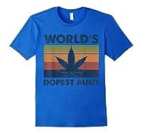 World\\\'s Dopest Aunt Weed Vintage T-shirt Royal Blue