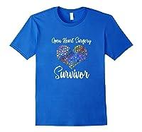 Survived Open Heart Surgery Heart Attack Survivor Shirts Royal Blue