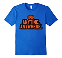 Anytime Anywhere Flyers Shirts Royal Blue