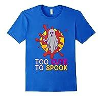 Cute Ghost Girls Costume Spooky Halloween T-shirt Royal Blue