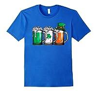 Irish Beer Ireland Flag St Patricks Day Leprechaun Shirts Royal Blue