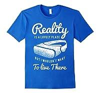Virtual Reality Hmd Interactive Game Vr Headset Shirts Royal Blue