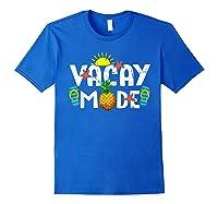 Family Vacation Holidays Vacay Mode Summer Travel Gift T-shirt Royal Blue