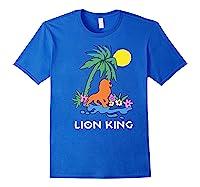 The Lion King Simba Spring Palm Tree Shirts Royal Blue