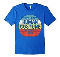 This My Human Costume I'm Really A Rhino Halloween Vintage Shirts Royal Blue