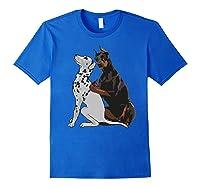 Cute Fashionable Doberman Tattooing Dalmatian Dog Gift Shirts Royal Blue