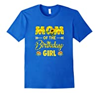 Mom Of The Birthday Girl Mom Sunflower Gifts Shirts Royal Blue
