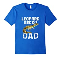 Funny Leopard Gecko Graphic Lizard Lover Reptile Dad Gift T-shirt Royal Blue