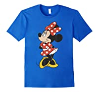 Mickey And Friends Minnie Mouse Traditional Portrait Shirts Royal Blue