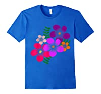 Blooming Flower, Blooms, Blossoms, Garden, Bunch Of Flowers T-shirt Royal Blue