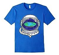 Flat Earth Map Design For A Flat Earth Society Shirts Royal Blue