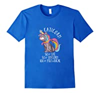 Caticorn Magical Unicorn Cat Animal Lover Gift Shirts Royal Blue