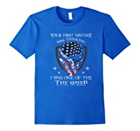 Your First Mistake Was Thinking I Was One Of The Sheep Skull Premium T-shirt Royal Blue