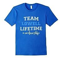 S Team Lowell Groom Squad Custom Bachelor Party Wedding T-shirt Royal Blue
