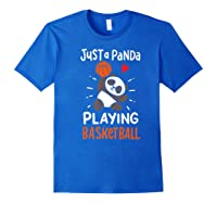 Basketball Panda Premium T-shirt Royal Blue
