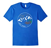 I Hate People Funny Mountain Lover Novelty Shirts Royal Blue