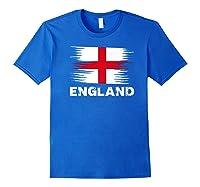 England English Flag Sports Soccer Football Gift Shirts Royal Blue