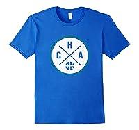 Classic Charlotte Basketball Cha Outline T-shirt Royal Blue