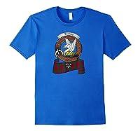 Lindsay Scottish Clan Badge Tartan Shirts Royal Blue