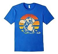 Retro French Bulldog T-shirt Gift Royal Blue