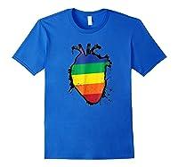 Rainbow Anatomical Lgbt Flag Heart Shirts Royal Blue