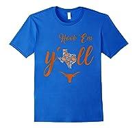 Texas Longhorns Paisley State - Apparel T-shirt Royal Blue