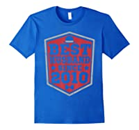 9th Wedding Anniversary Gift 9 Yrs Best Husband Since 2010 Shirts Royal Blue