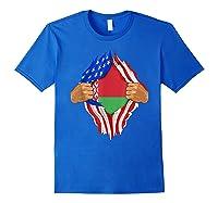 Belarusian Blood Inside Me Belarus Flag Gift Shirts Royal Blue
