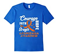 Leukemia Awareness Warrior Wear Orange Hope Gifts Shirts Royal Blue