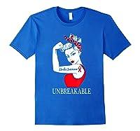 Stroke Survivor Unbreakable Strong Shirts Royal Blue