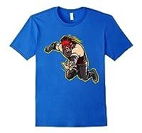 Kane Clothesline Graphic Shirts Royal Blue